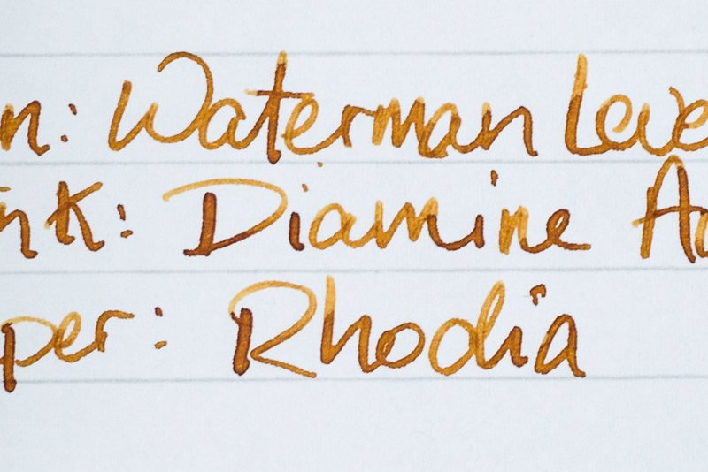 fountain pen ink shading diamine autumn oak