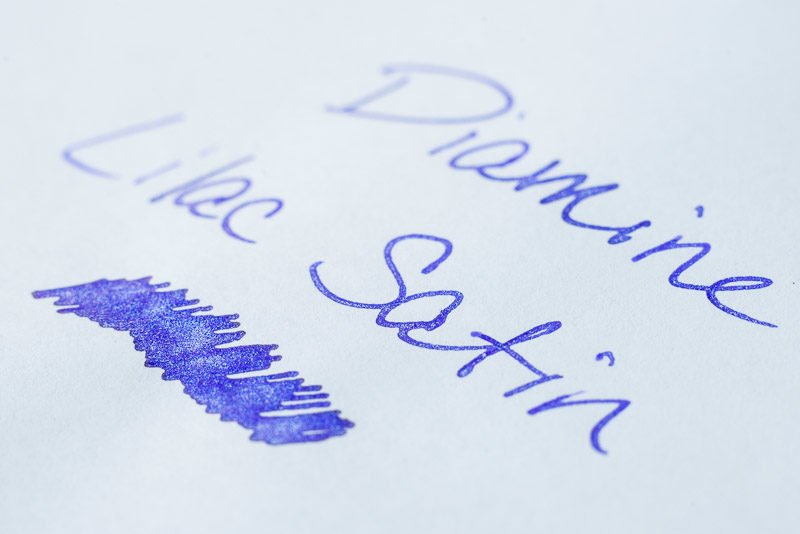 Difference between shimmer sheen fountain pen ink diamine lilac satin shimmer ink