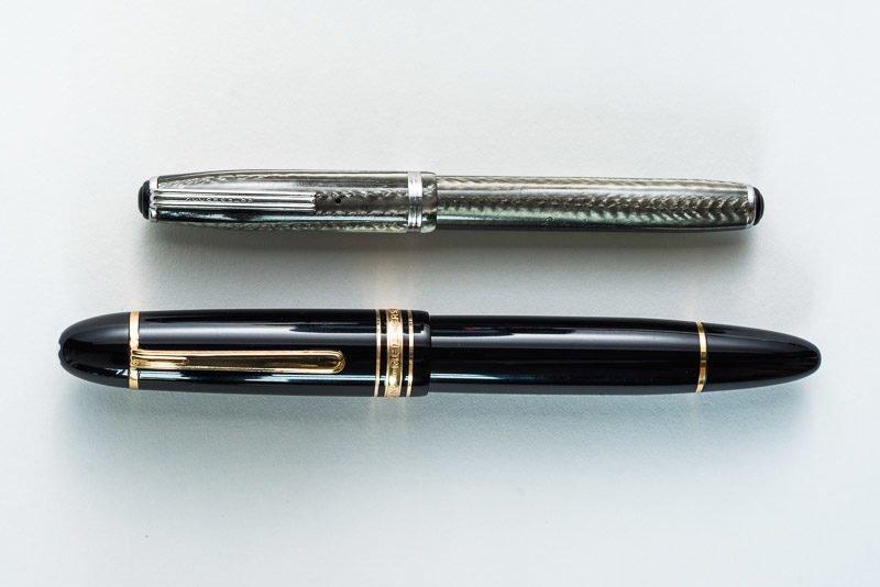 montblanc esterbrook fountain pen size comparison