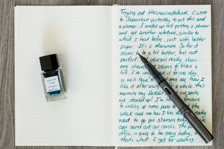 fountain pen writing