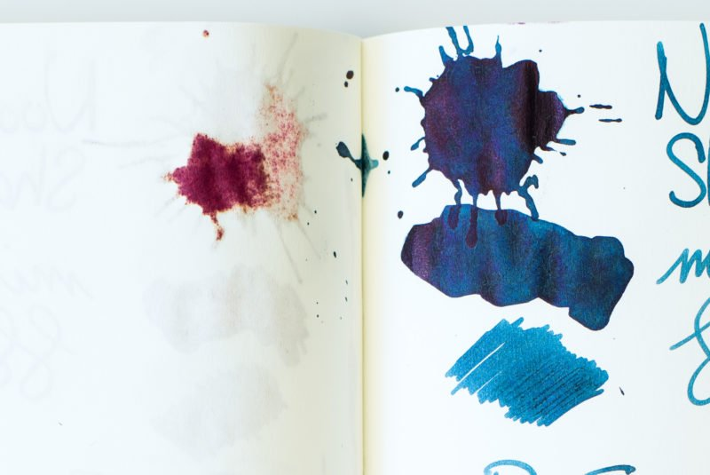 fountain pen ink splat bleed tomoe river