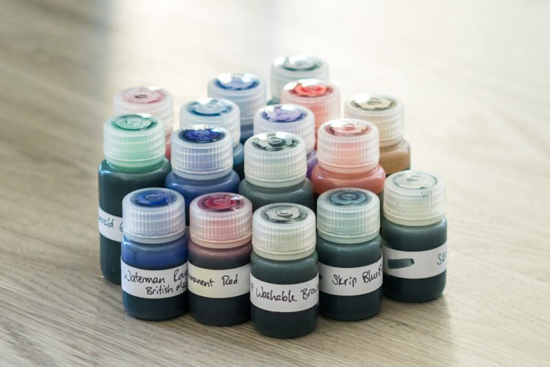 nalgene bottles used for fountain pen ink