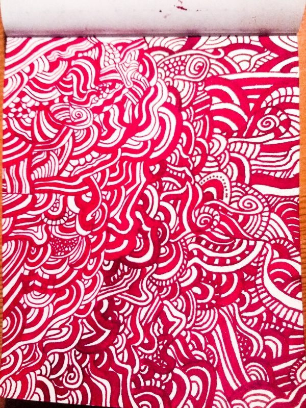 using fountain pens to doodle whole page