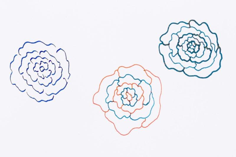 using fountain pens more often doodle flower