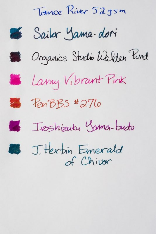 How does paper affect fountain pen ink sheen tomoe river