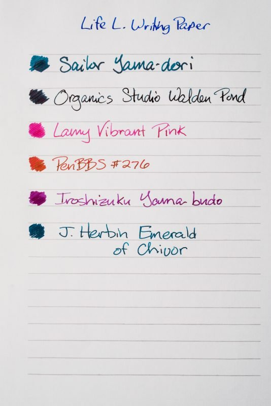 How does paper affect fountain pen ink sheen life l writing paper