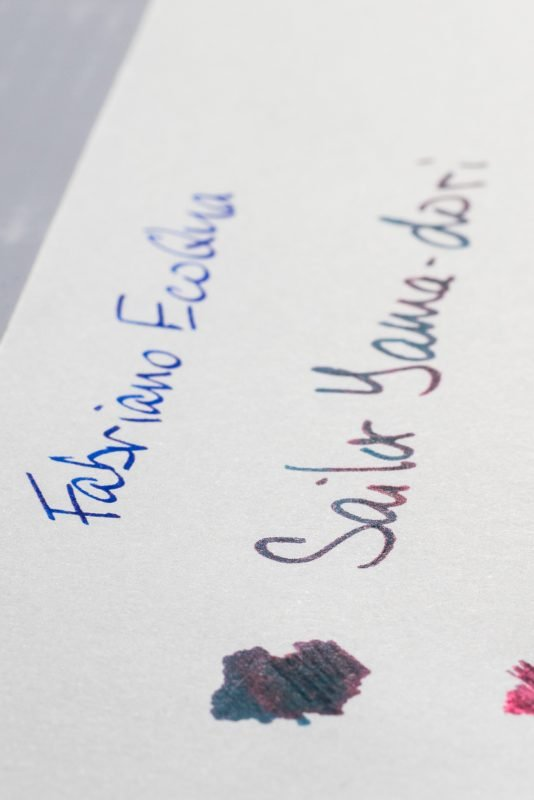 How does paper affect fountain pen ink sheen fabriano ecoqua notebook detail