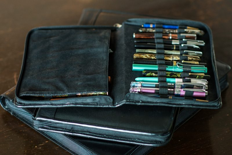 moving with fountain pens pen case
