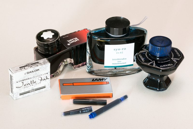 how to fill a fountain pen ink bottles cartridges