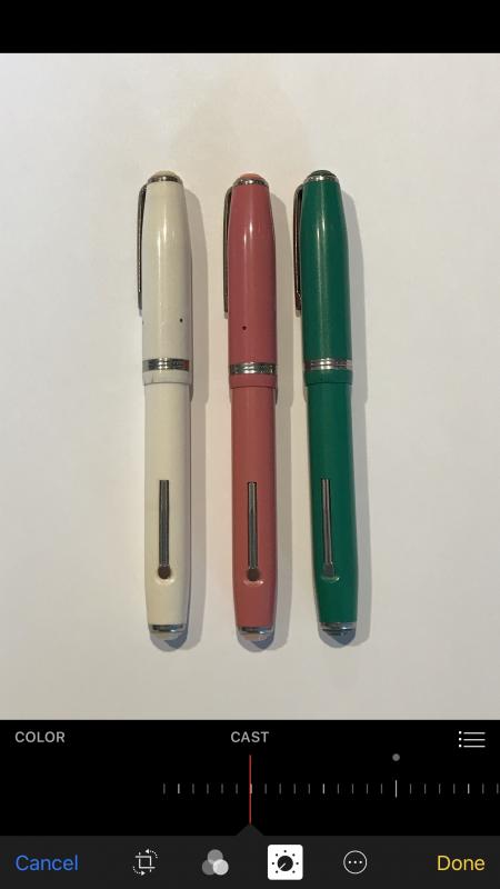 fountain pen white balance corrected