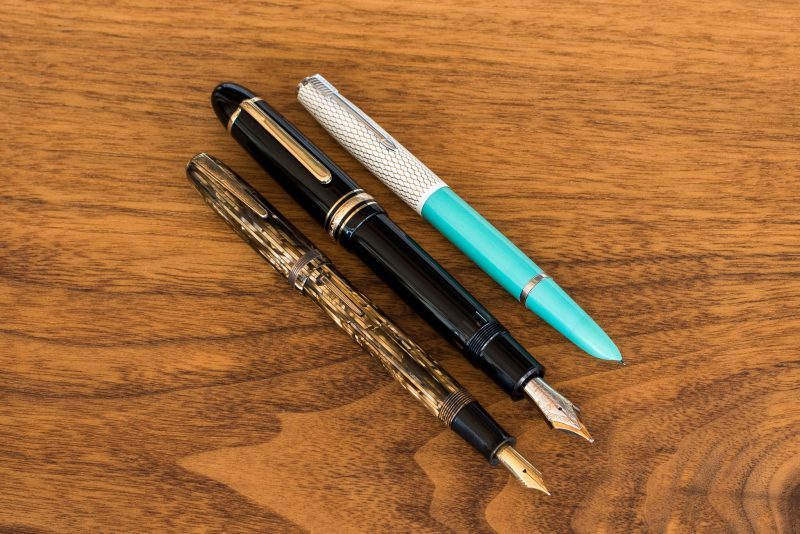 teal parker 41 fountain pen photography