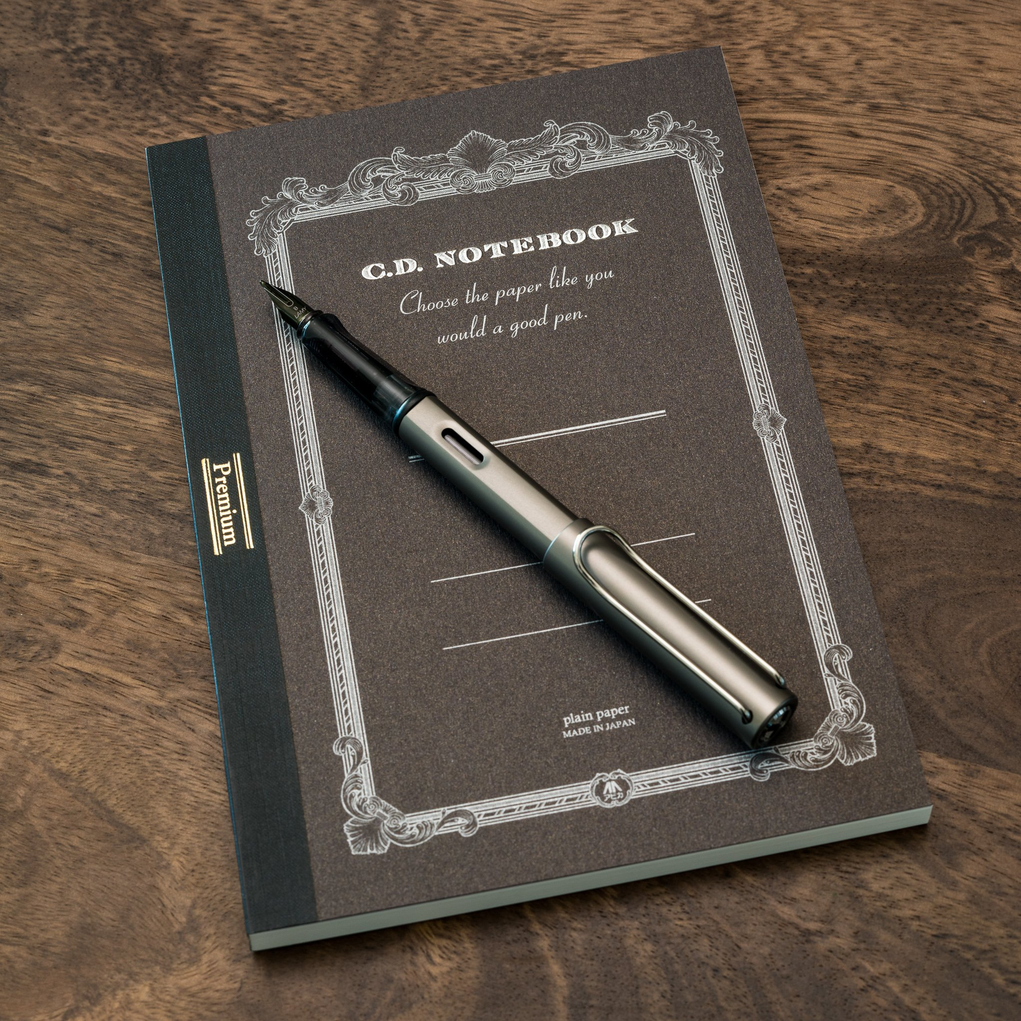 apica cd notebook with lamy lx fountain pen