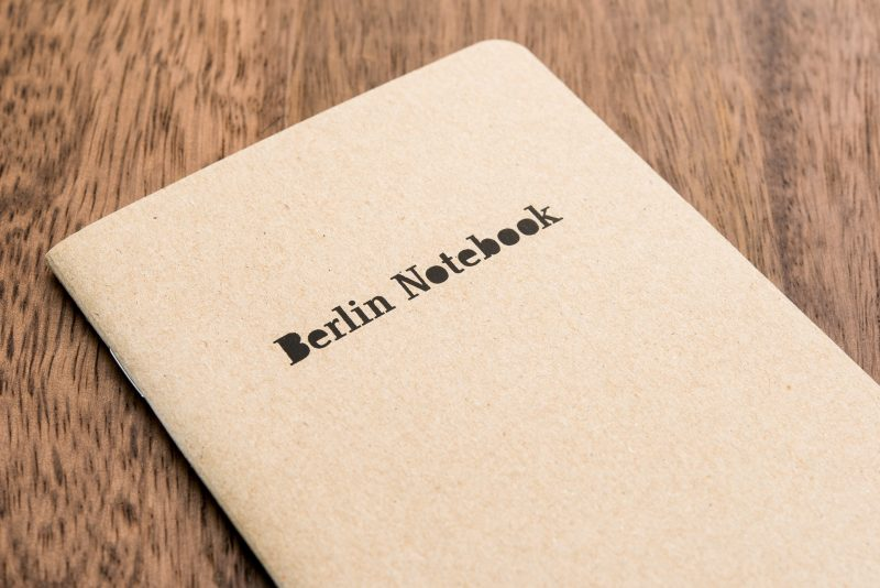 berlin notebook fountain pen friendly paper cover