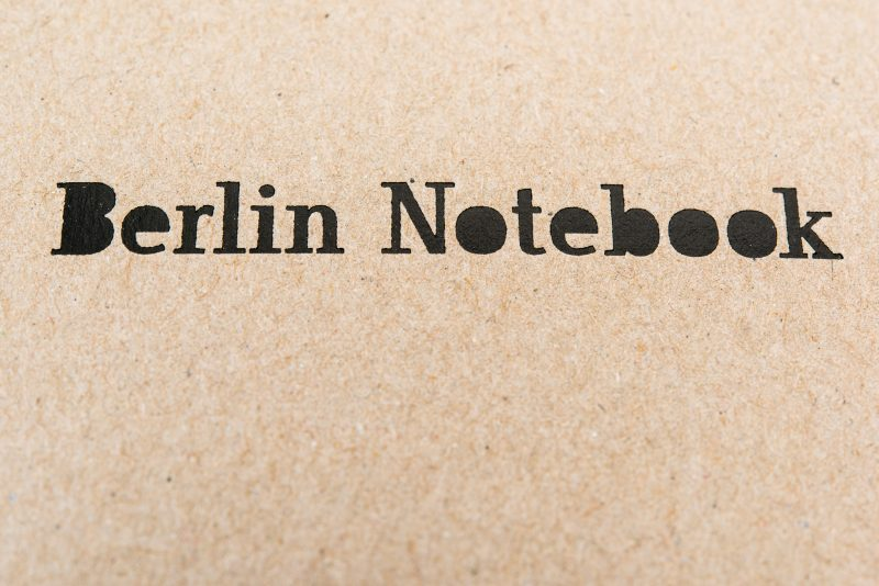 berlin notebook fountain pen friendly paper cover detail