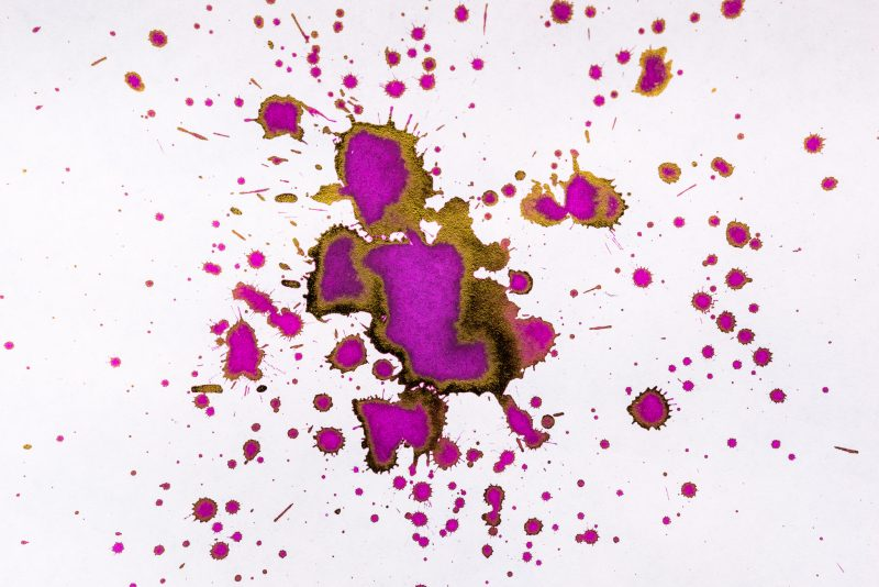 how to make a fountain pen ink splat splatter