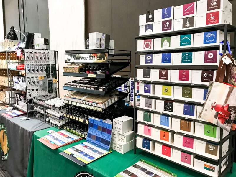 Attending Your First Fountain Pen Show ink display