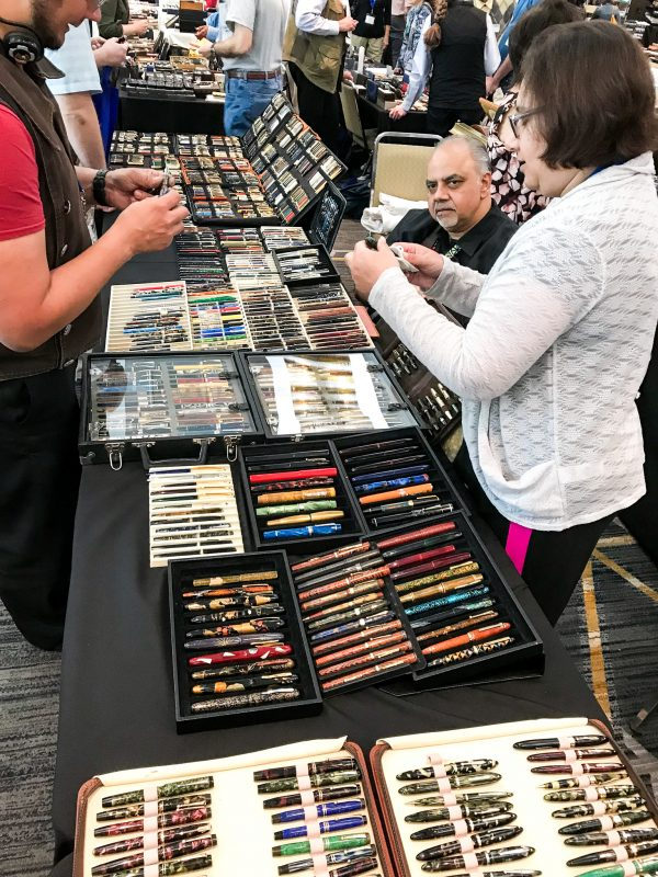 Attending Your First Fountain Pen Show pen display