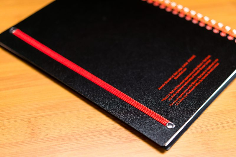 black n red spiral notebook review elastic closure