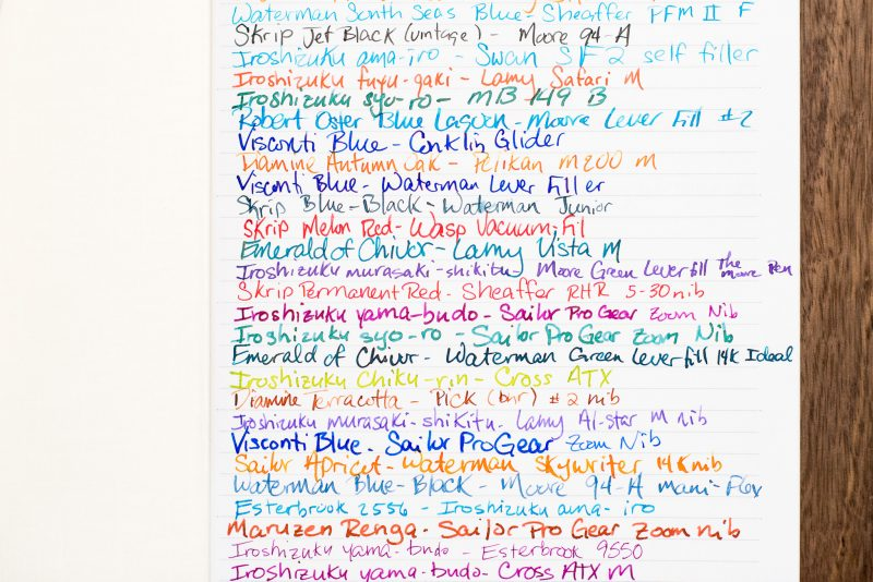 Creating A Fountain Pen Ink Journal ink diary