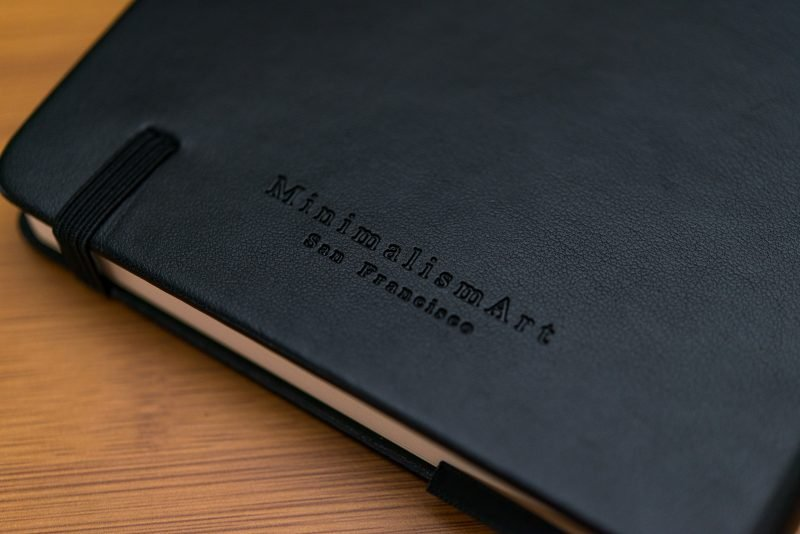 Minimalism Art Notebook Review embossing