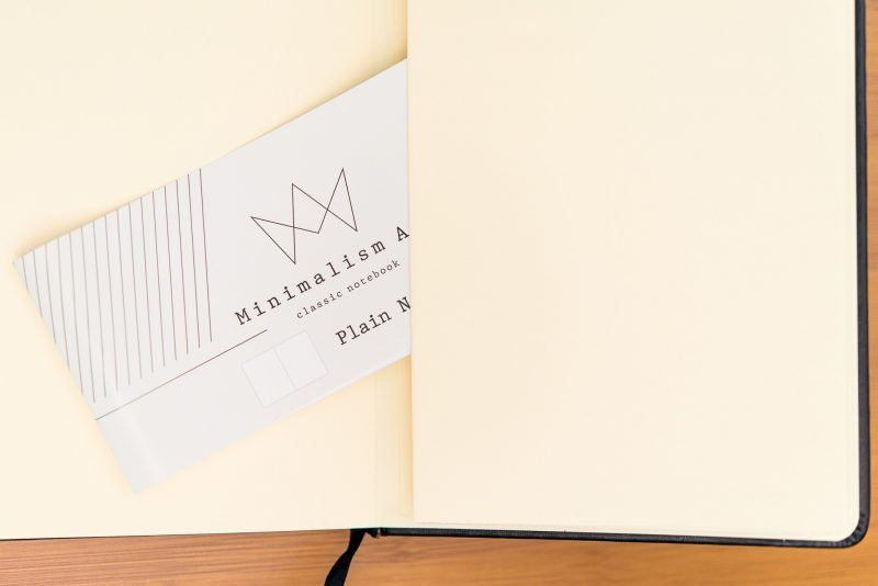 Minimalism Art Notebook Review rear pocket