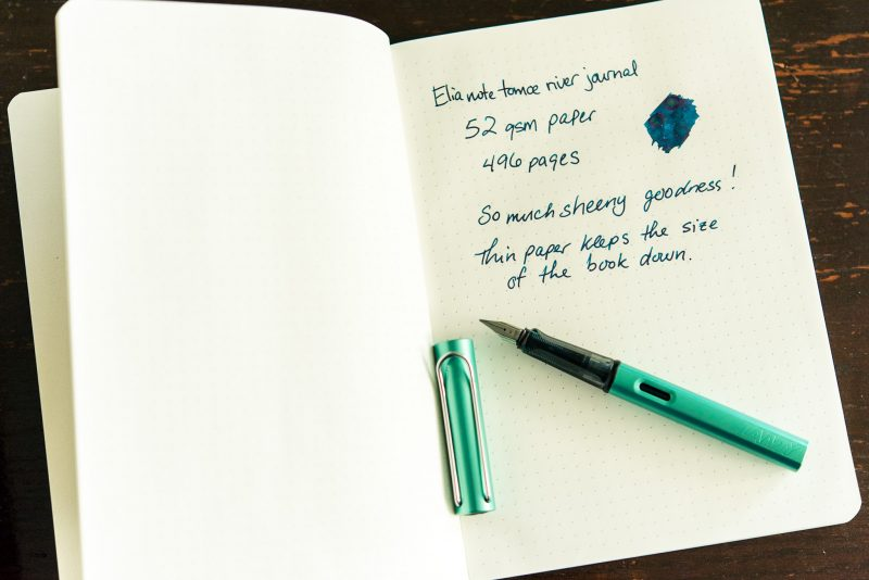Elia Note notebook review tomoe river paper lamy al-star