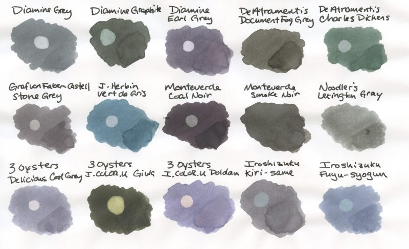 The Great Grey Fountain Pen Ink Comparison Fountain Pen Love