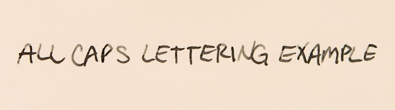 How to improve your handwriting capital letters
