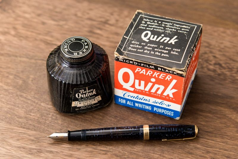 Is it safe to use old fountain pen inks parker vacumatic