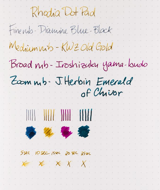 Rhodia Dot Pad Review shading