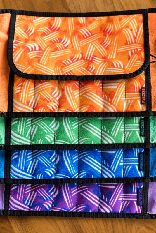 Rickshaw Pen Roll and Sleeve giveaway color options