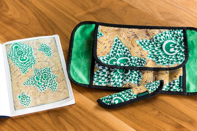 Rickshaw Pen Roll and Sleeve giveaway green doodle and original
