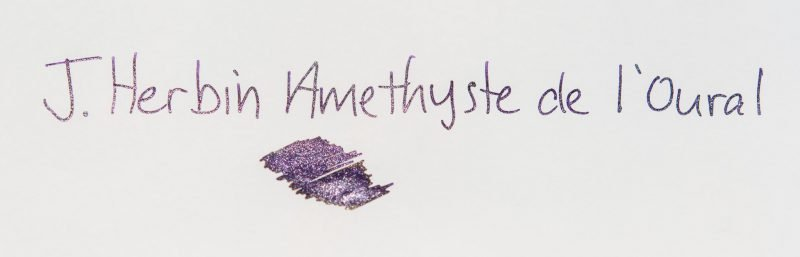 using shimmer ink in fountain pens j herbin amtthyste de l'oural