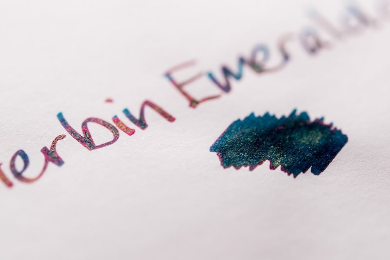 using shimmer ink in fountain pens emerald of chivor