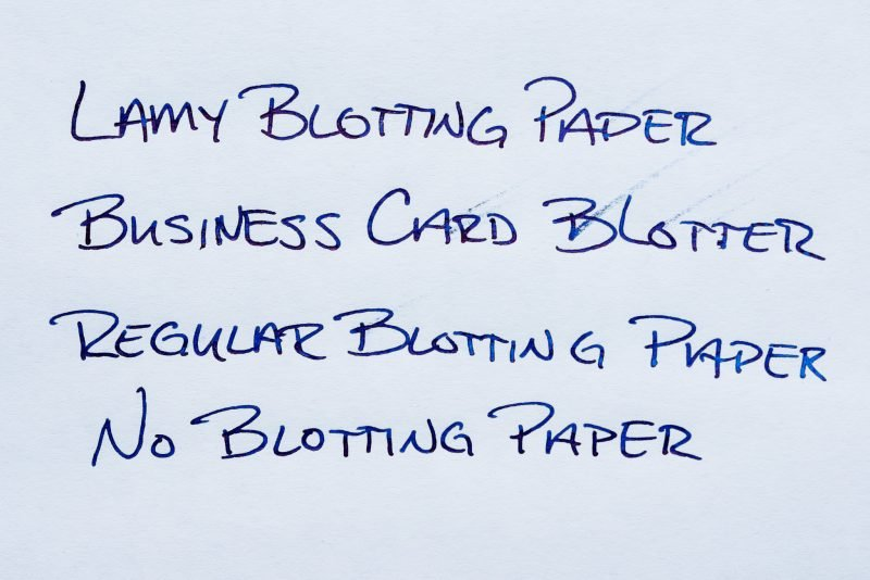 How To Use Fountain Pen Blotting Paper comparing papers