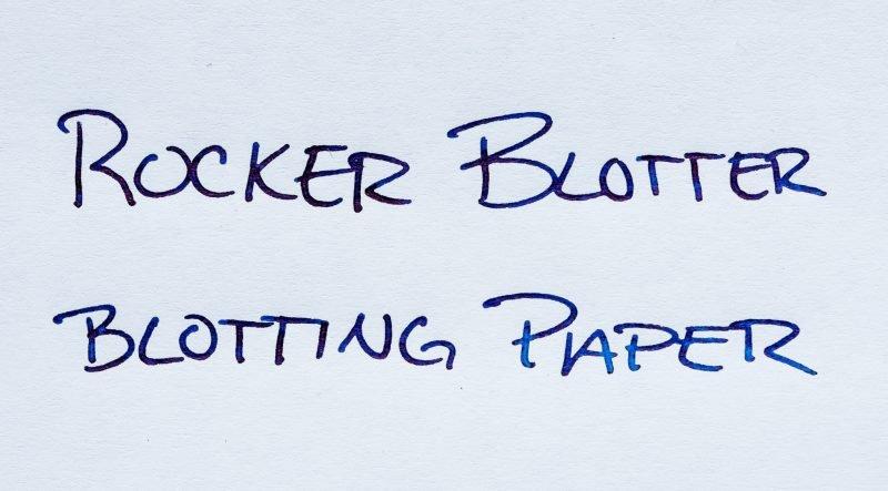 How To Use Fountain Pen Blotting Paper rocker blotter test