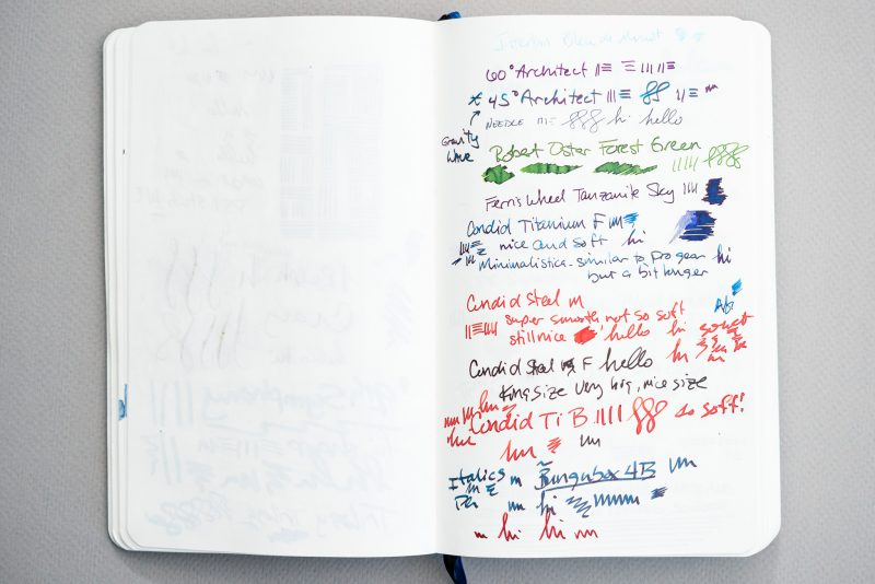 Fountain Pen Fun Notebook pen testing