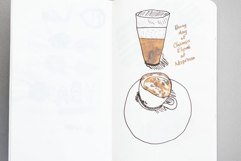 Fountain Pen Fun Notebook nespresso drawing