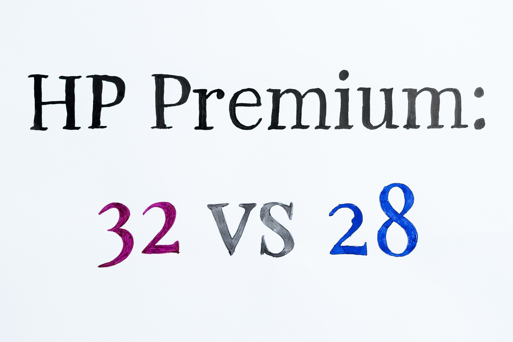 Comparing Papers: HP Premium28 and HP Premium32 - Fountain Pen Love