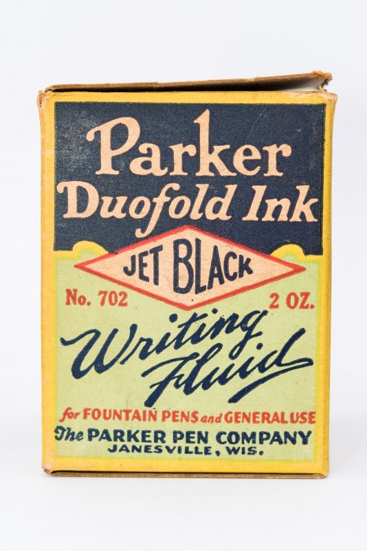 Identifying Vintage Fountain Pen Ink Bottles and Boxes Parker Duofold Ink box