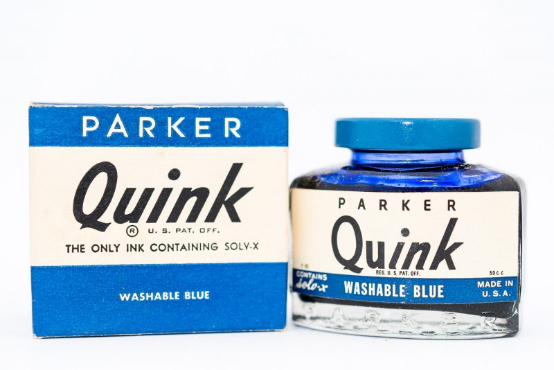 Identifying Vintage Fountain Pen Ink Bottles and Boxes new quink