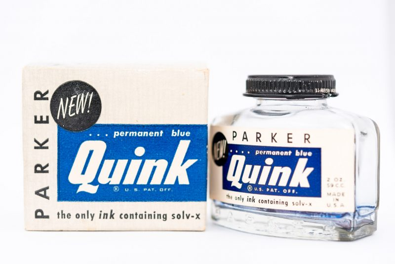 Identifying Vintage Fountain Pen Ink Bottles and Boxes permanent blue