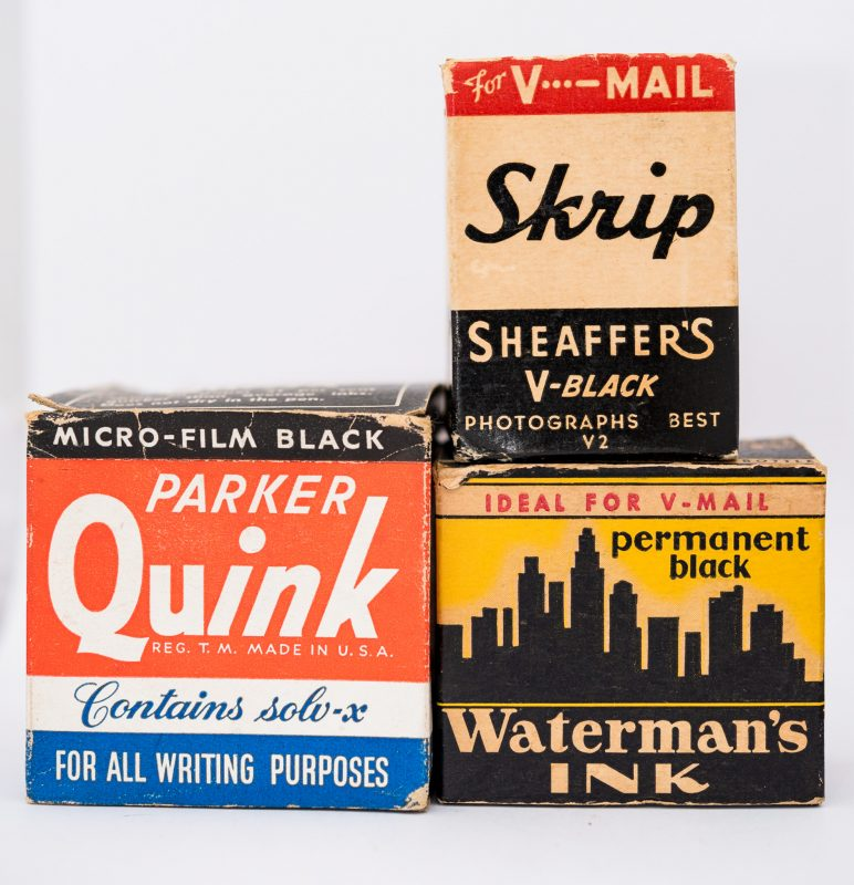 Identifying Vintage Fountain Pen Ink Bottles and Boxes vmail ink boxes