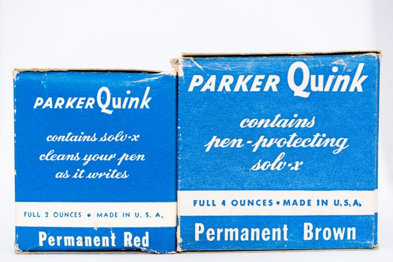 Identifying Vintage Fountain Pen Ink Bottles and Boxes permanent brown