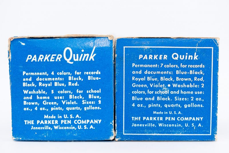 Identifying Vintage Fountain Pen Ink Bottles and Boxes box bottoms