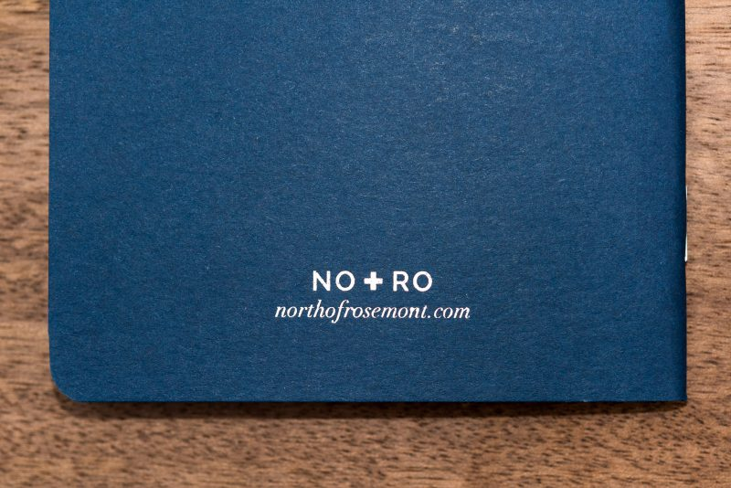North of Rosemont notebook review back cover
