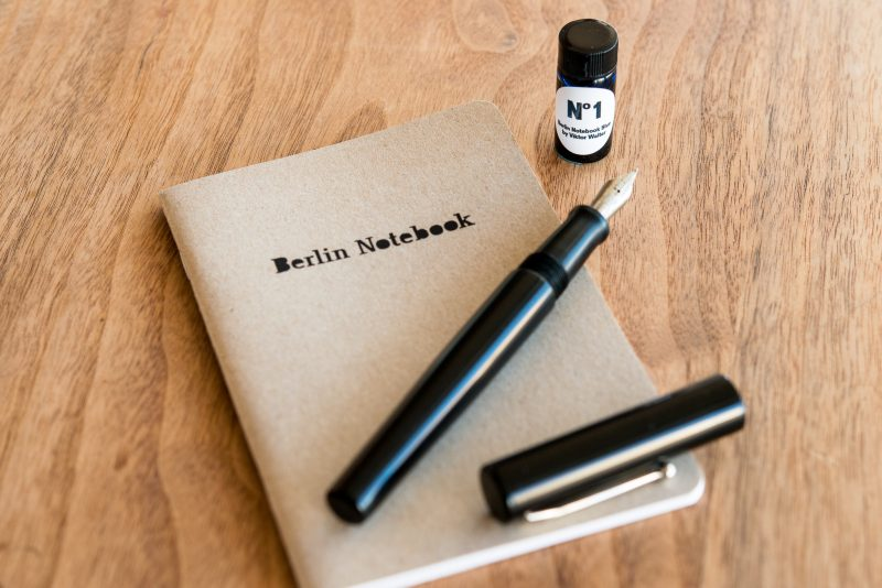 Berlin Notebook Blue No 1 Fountain Pen Ink with fountain pen