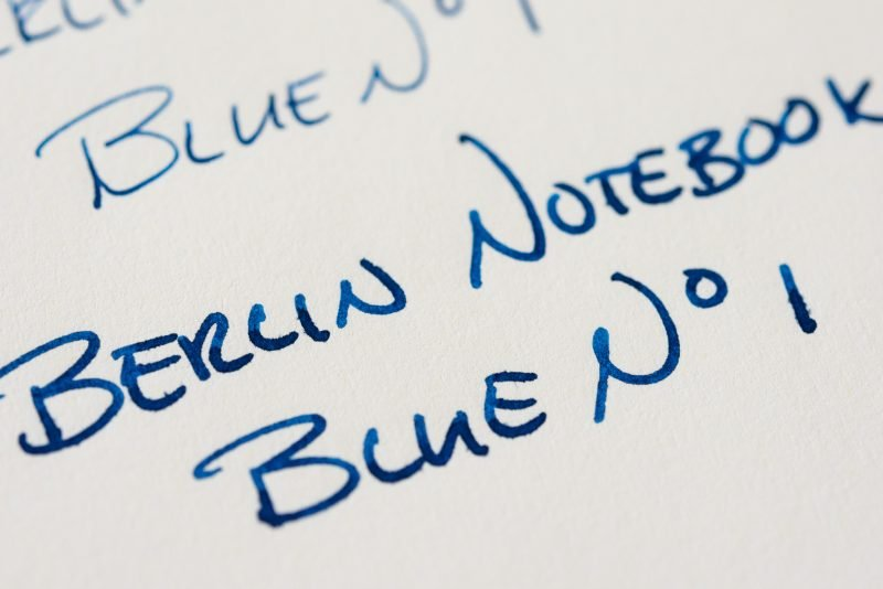 Berlin Notebook Blue No 1 Fountain Pen Ink leuchtturm