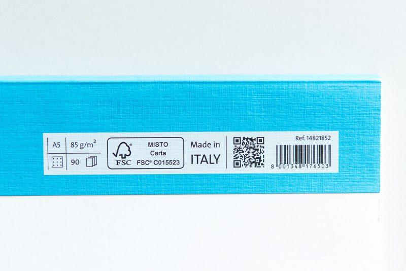 Fabriano EcoQua back cover