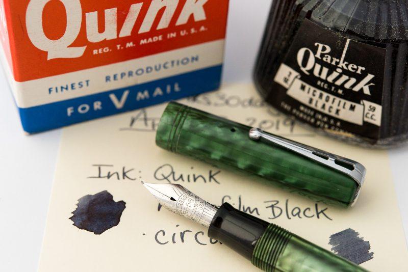 parker quink microfilm black fountain pen ink